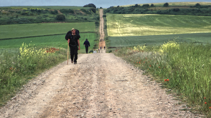 Jake hiking the Camino de Santiago