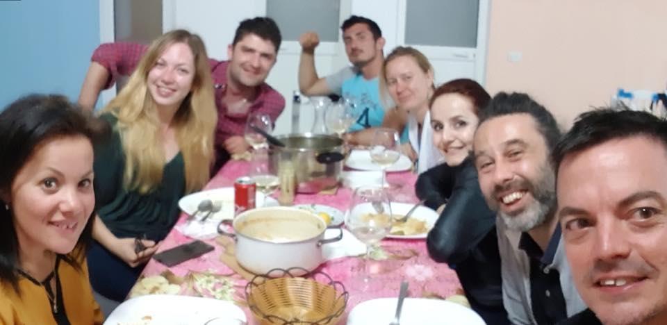 Dinner-at-Bulldog-hostel-Shkoder-Albania