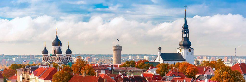 Skyline of Tallinn Estonia