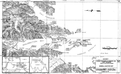 Seward Coastal Defence Map Fort McGilvray