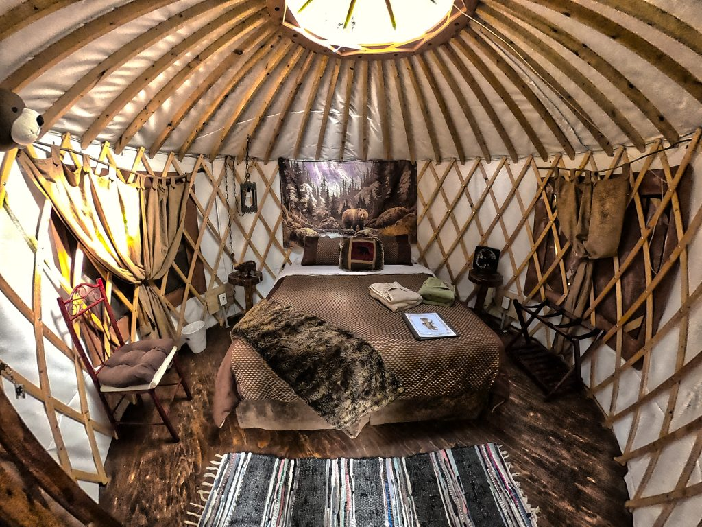 Yurt interior seward alaska nauti otter