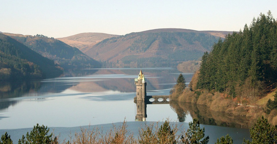 Glyndwr's Way Lake Vyrnwy Wales