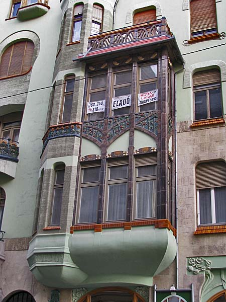 Art Nouveau in Budapest Hungary