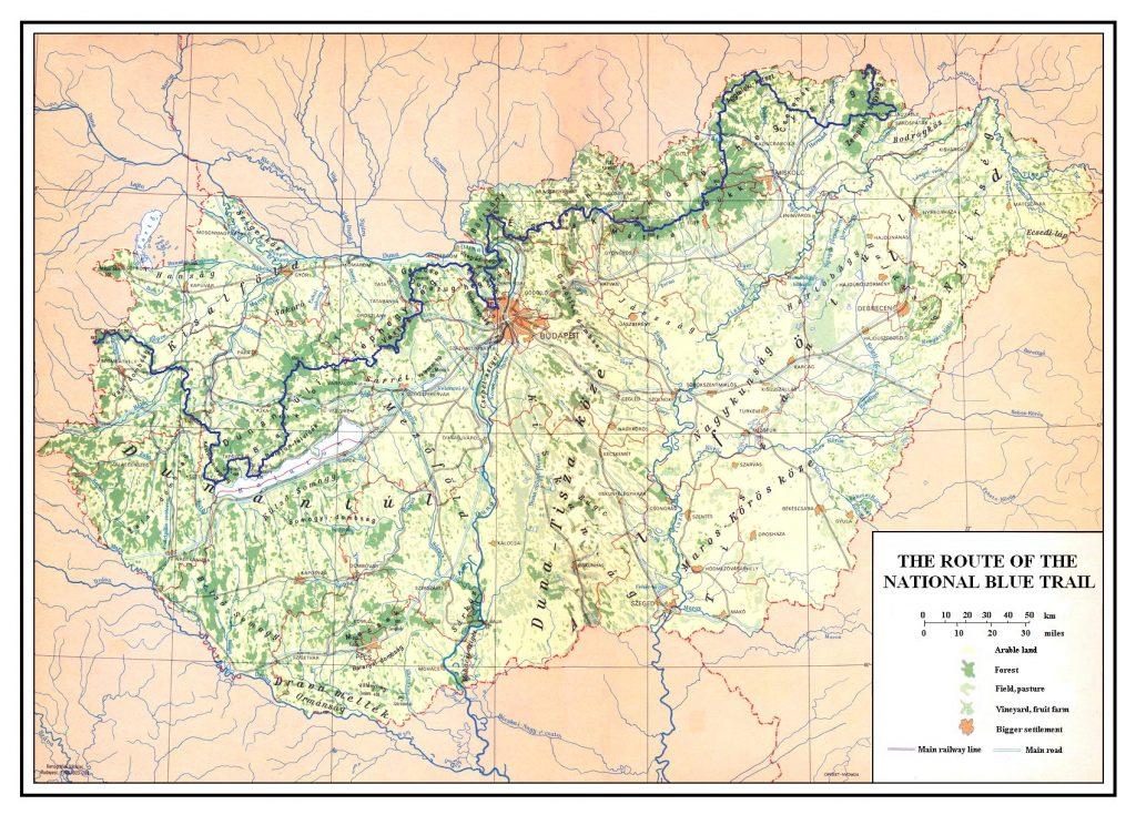 National Blue Trail Map Hungary Tramposaurus