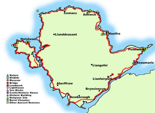 Anglesey Coastal Path Map
