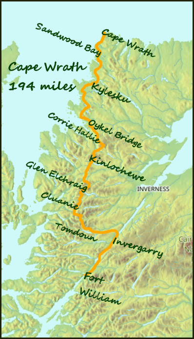 Cape Wrath Trail Scotland Map