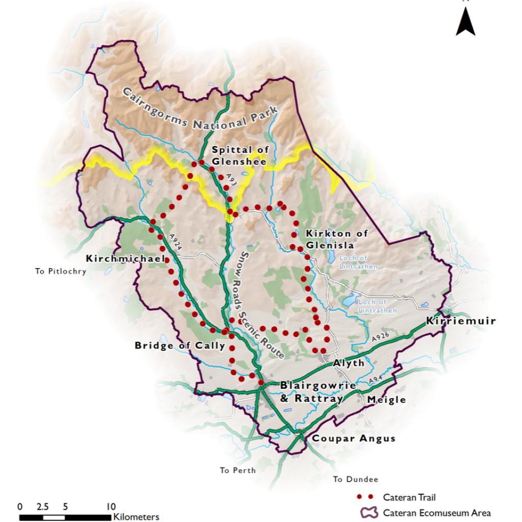 Cateran Trail Scotland Map