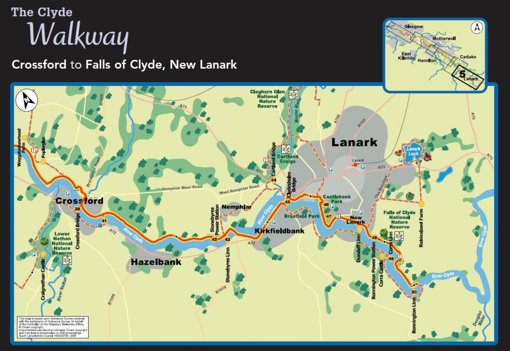 Clyde Walkway Scotland Map