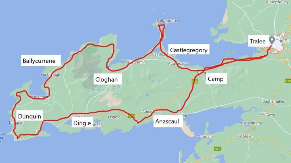 Dingle Way Ireland Map