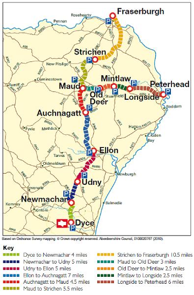 Formartine and Buchan Way Scotland Map