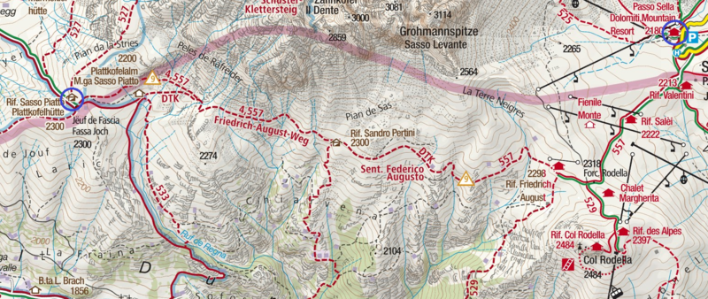 Friedrich-August Trail Map