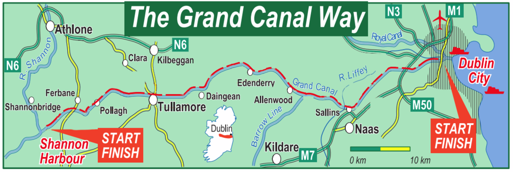 Grand Canal Way Ireland Map