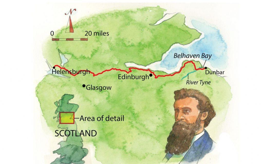 John Muir Way Scotland Map