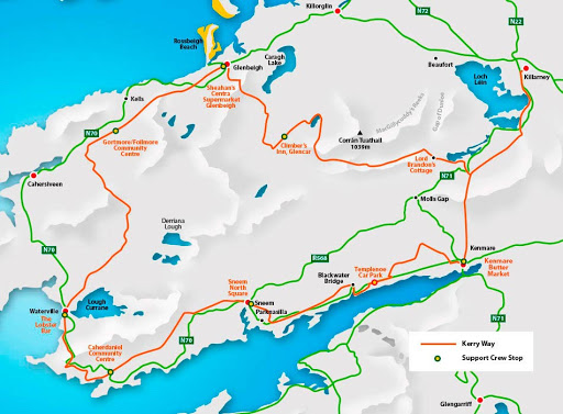 Kerry Way Ireland Map