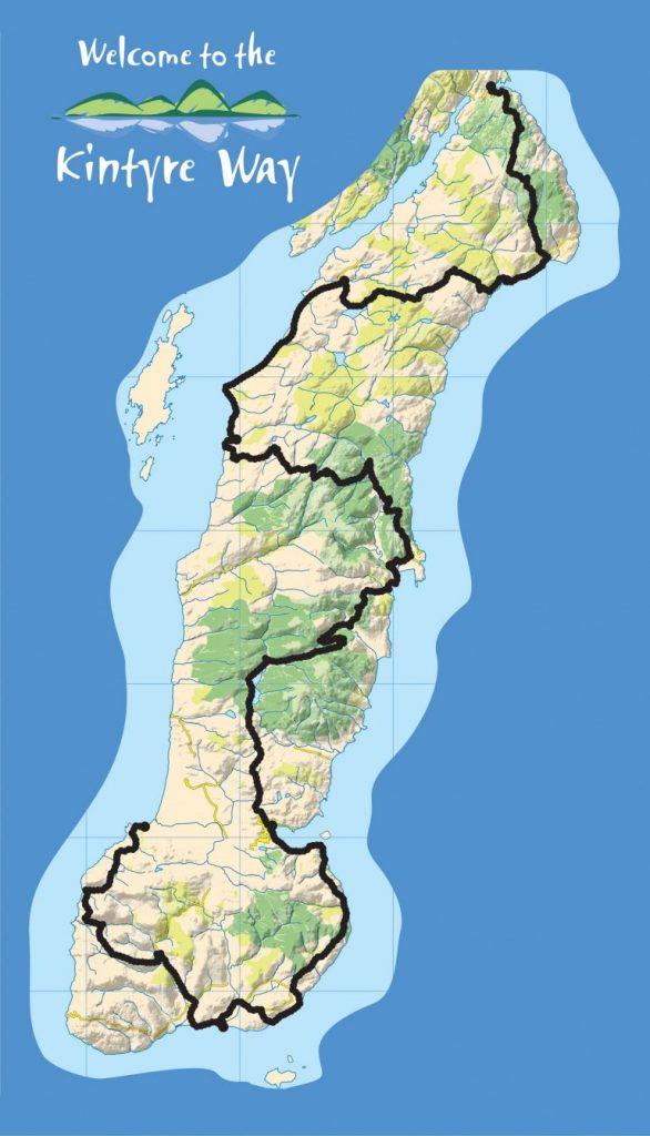 Kintyre Way Scotland Map