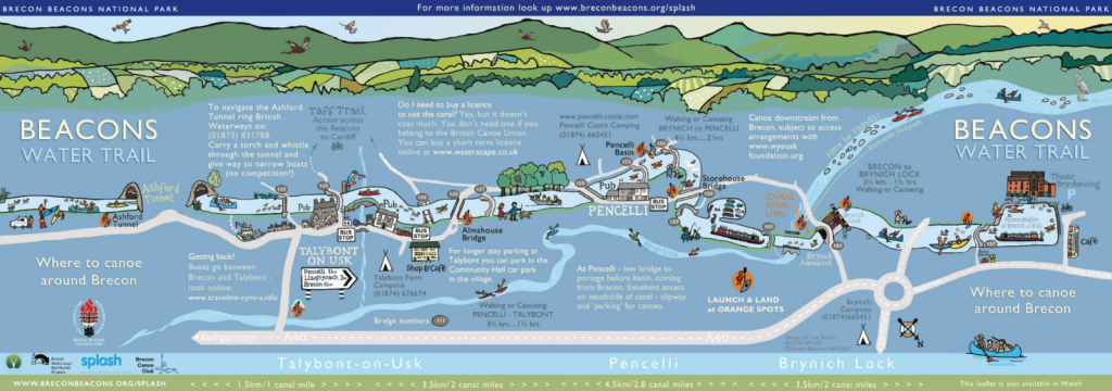 Monmouthshire and Brecon Canals Map