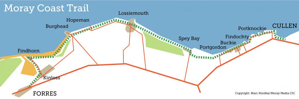 Moray Coast Trail Scotland Map