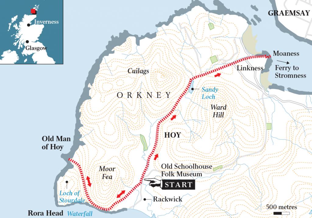 Old Man of Hoy Scotland Map