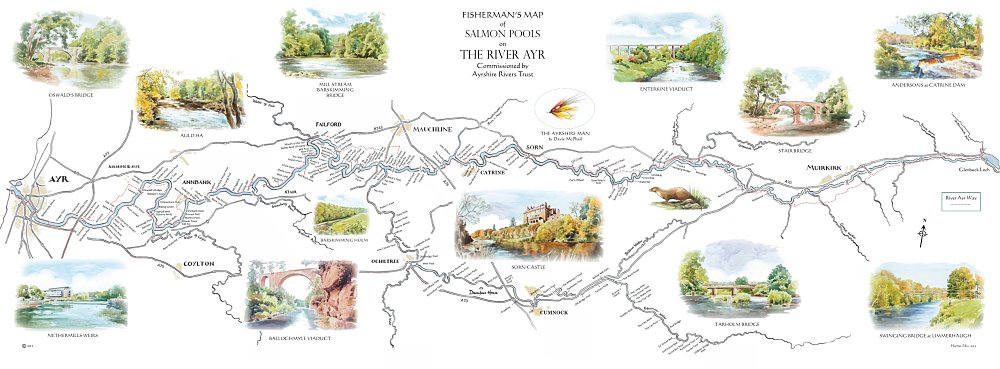 River Ayr Way Scotland Map