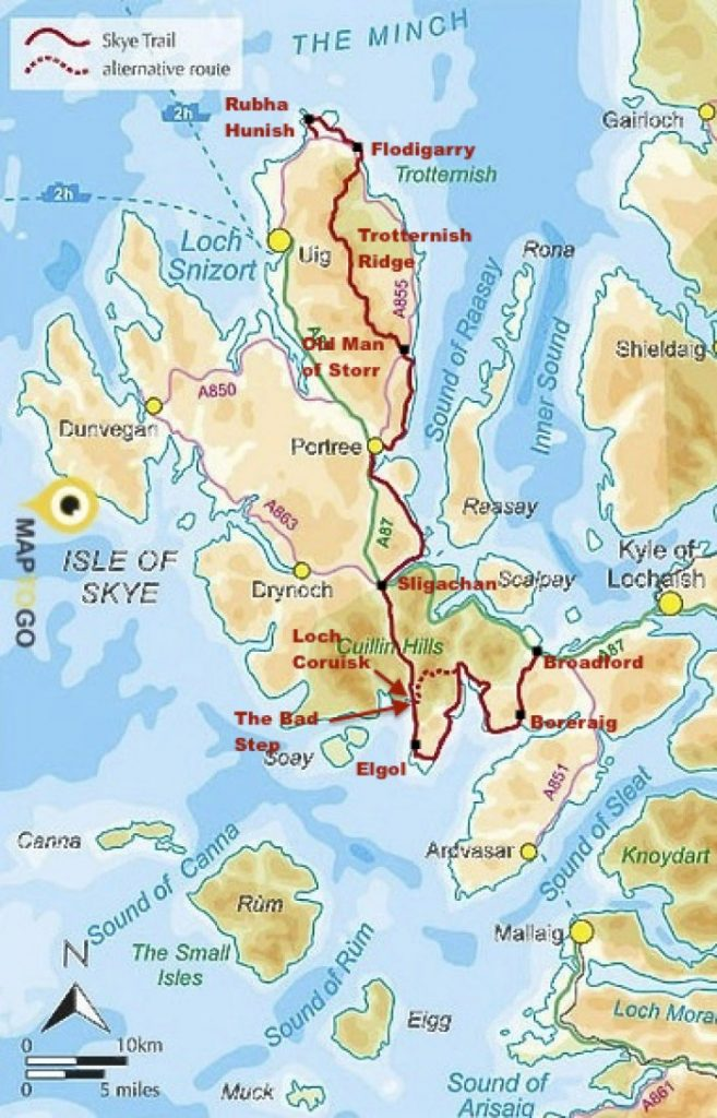 Skye Trail Scotland Map