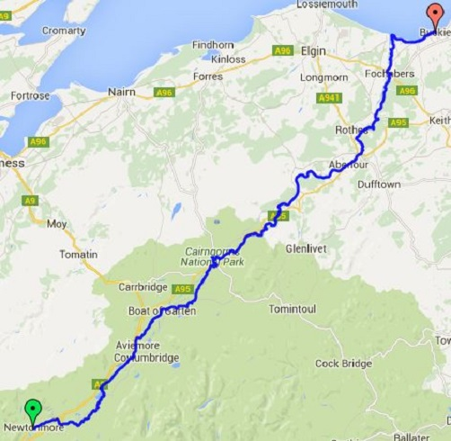 Speyside Way Scotland Map