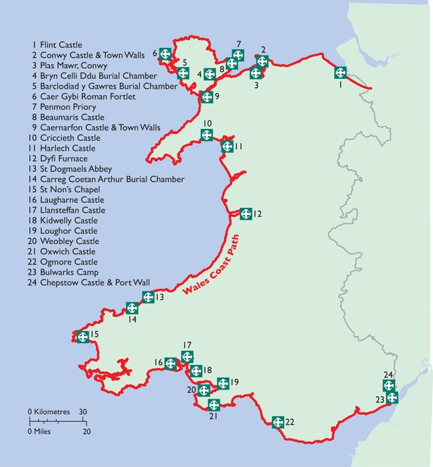 Wales Coast Path Map