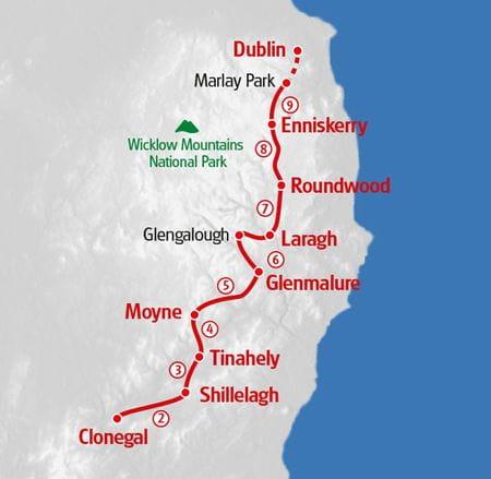 Wicklow Way Map