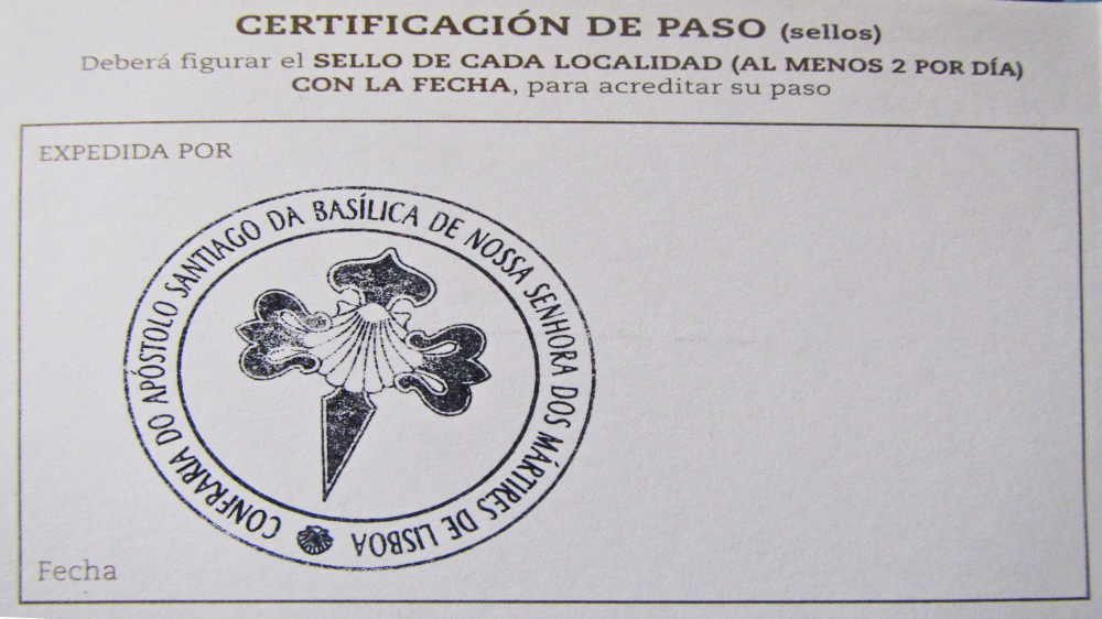Camino Portuguese - First Stamp - Lisbon