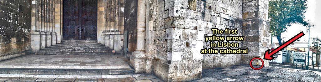 Camino Portuguese - First Yellow Arrow Location - Lisbon