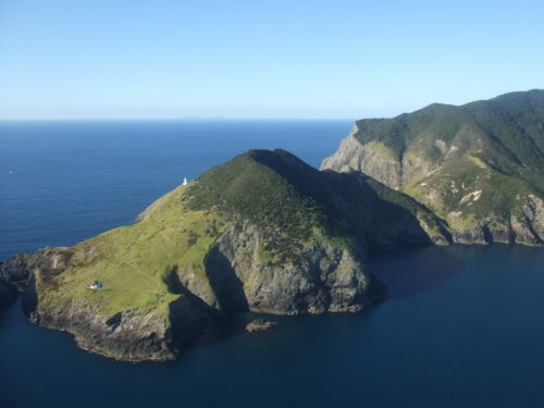Cape Brett Track - New Zealand - Aerial View of Lighthouse