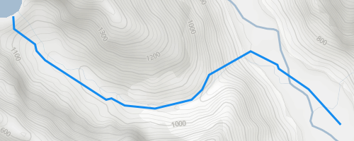 Crucible Lake - New Zealand - Map