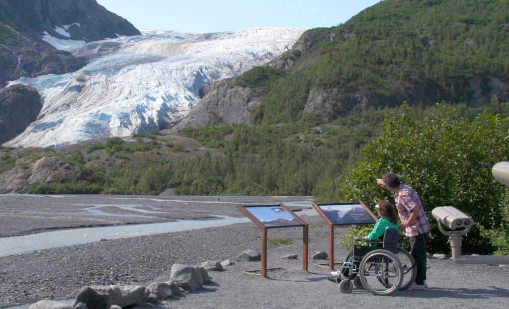 Exit Glacier - Seward Alaska-Accessible-Trail-View