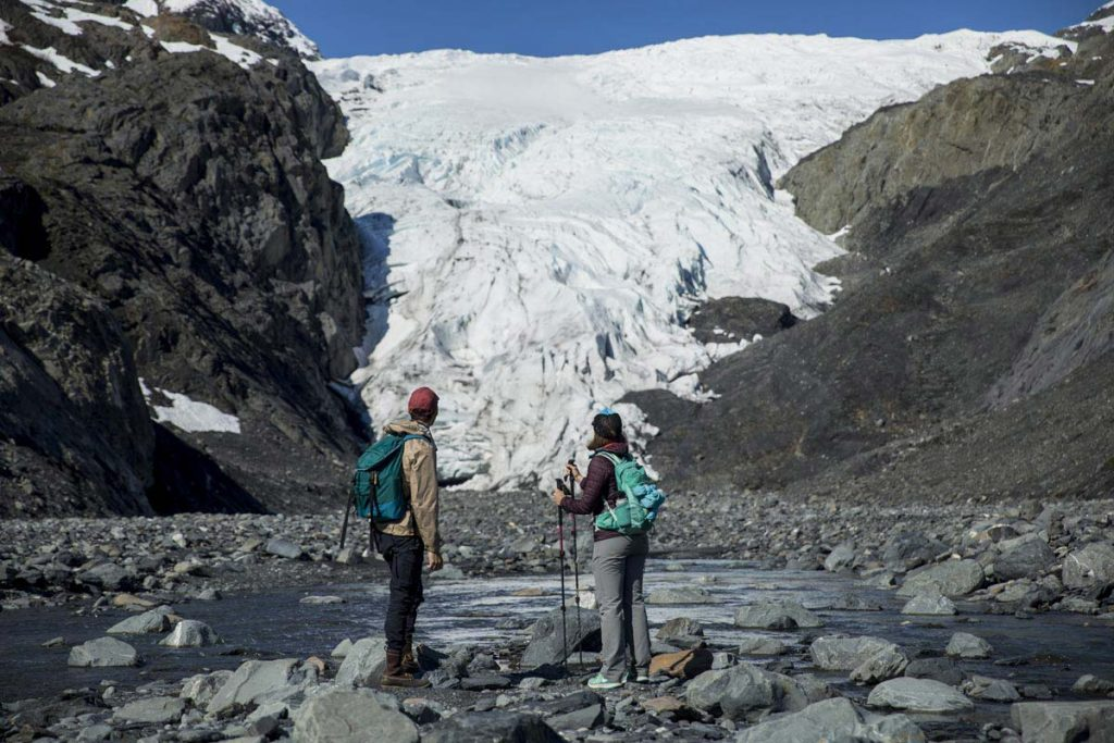 Exit Glacier - Seward Alaska-Riverbank