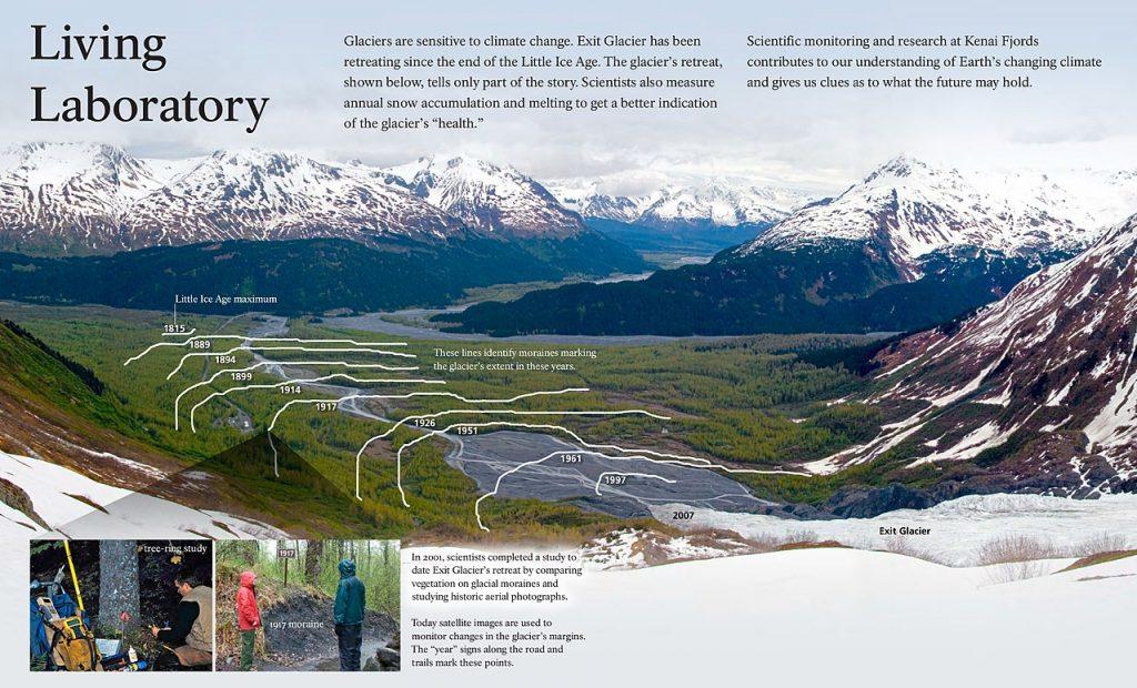 Exit Glacier - Seward Alaska-retreat-map