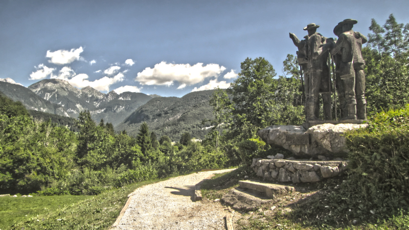 Four Brave Men Statue - Lake Bohinj