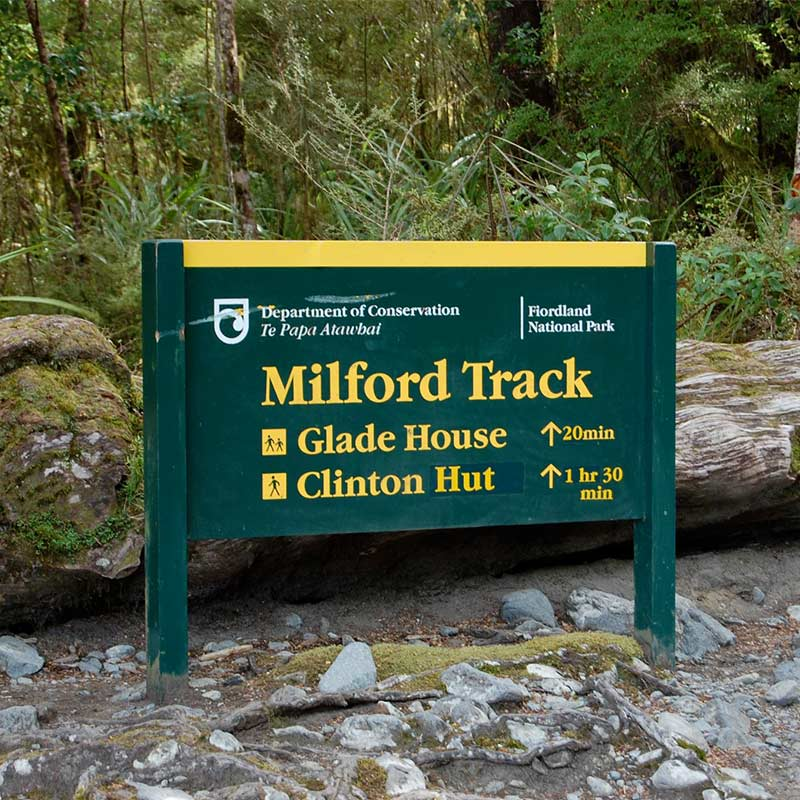 Milford Track - New Zealand - Sign