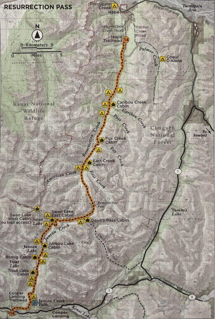 Resurrection Pass - Alaska - Map
