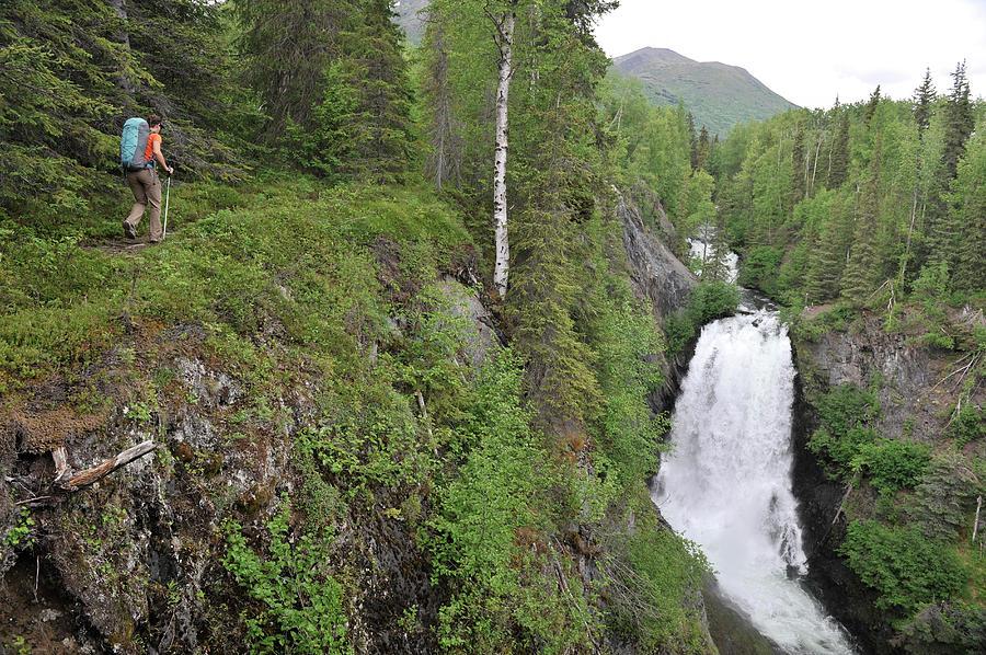 Resurrection Pass - Alaska - Waterfall