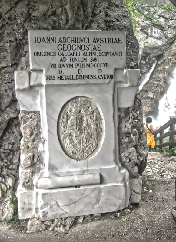 Savica Waterfall - Archduke of Austria Plaque