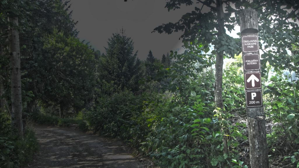 Triglav National Park - Day 1 - Pokljuka Gorge - sign